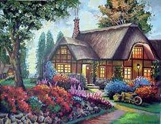 Resultado de imagen de схема вышивки крестом дом