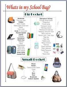 Online shopping for Girls' Back-to-School Essentials from a great selection at Clothing, Shoes & Jewelry Store. High School Hacks, Life Hacks For School, School Study Tips, I School, School Bags, School Essay, College School Bag, Middle School Hacks, School Office