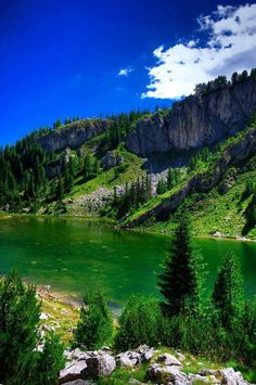Beautiful lake in Rugova,Peja city
