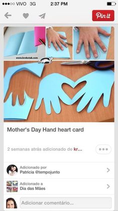 Cute and simple Hands & Heart Valentine Crafts For Kids, Homemade Valentines, Holiday Crafts, Kids Crafts, Easy Diy Crafts, Paper Plate Crafts, Paper Plates, Fathersday Crafts, Karten Diy