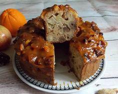 Cake à l'orange, aux noix du Brésil, pomme et châtaignes { sans sucre ajouté, sans gluten & faible en MG }