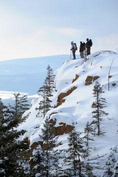 Sentiers pédestres des 3 Monts - les 3 monts l'hiver Winter Mountain, Belle Photo, Quebec, Saint, Mount Everest, Snow, Mountains, Plein Air, Photos