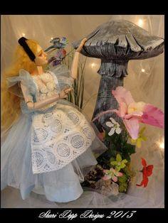 One of Kind Alice in Wonderland Mushroom by ShariDeppDesigns, $99.00