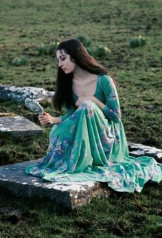 Eve Arnold photograph of Angelica Huston at 16, Saint Clerans, Ireland, 1968.