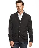Club Room Sweater, Merino-Wool Blend Shawl-Collar Cardigan