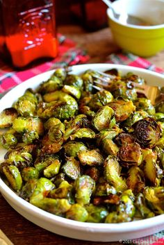 Caramelized Brussels Sprouts with Browned Butter Drizzle ciaochowbambina.com