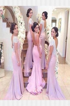 Mermaid Bridesmaid Dresses, Sexy Bridesmaid Dresses, Open Back Bridesmaid Dresses #MermaidBridesmaidDresses #SexyBridesmaidDresses #OpenBackBridesmaidDresses Bridesmaid Dresses 2018