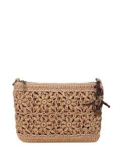 The Sak Classic Mini Clutch Clutch Bag Pattern, Crochet Clutch Bags, Crochet Wallet, Crochet Shoes, Crochet Handbags, Crochet Purses, Crochet Yarn, Crochet Flower Tutorial, Diy Purse