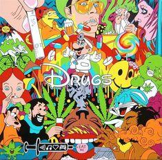 Disney Characters Smoking Weed | disney drugs weed princess goofy caracters phycedelic popai