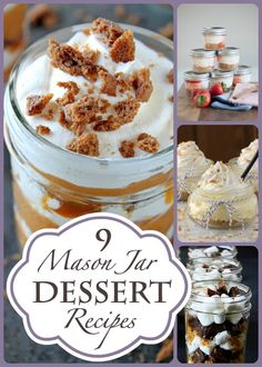 9 Mason Jar Dessert Recipes from Dreaming of Leaving Featured on The Bewitchin' Kitchen