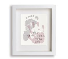 First Mother's Day Art Print  Personalized Hand and by NikoAndLily, $39.95