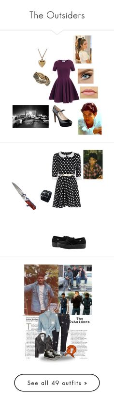 """""""The Outsiders"""" by chloeib-cb ❤ liked on Polyvore featuring Yves Saint Laurent, Dorothy Perkins, Nine West, Christian Louboutin, Cotton Candy, RALPH, Oasis, Vans, Shae and Acne Studios"""