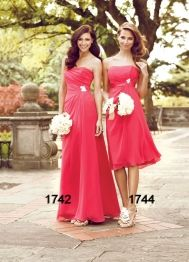 "Impression ""In Stock"" Bridesmaid Dress - Style 1744  Maid of Honor in Fuschia(what is shown) and the 3 other bridesmaids in Turquoise  #DBBridalStyle"