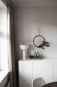 Brass wreath / Subtle Festive Touches in the Norwegian Home of Elisabeth Heier