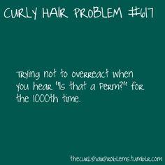 Story of my life! ha I've never seen a perm look the same or as good as my hair anyways :)