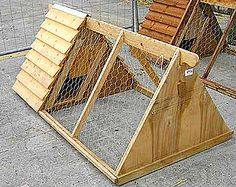 Chicken tractors are perfect for a small number of city chickens.