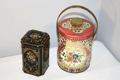 Pair of Vintage Tins MurrayAllen Candy Box Pink by SeacoastVintage, $15.00