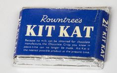 An early edition of Kit Kat. The Japanese are big fans and make 45 different versions including wasabi flavour - picture courtesy of CHOCOLATE - York's Sweet Story