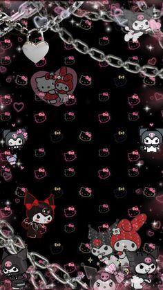 Goth Wallpaper, My Melody Wallpaper, Sanrio Wallpaper, Hello Kitty Wallpaper, Iphone Background Wallpaper, Kawaii Wallpaper, Aesthetic Iphone Wallpaper, Aesthetic Wallpapers, Hello Kitty Backgrounds