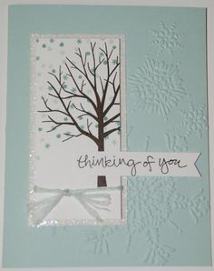 This is what I am doing at my Sheltering Tree Stamp Set Stamp Camp on the 17th. Here is picture of the winter card that will go along with the wooden calendar and seasonal inserts. Check out my blog for more info on my Stamp Camp. http://www.stampinup.net/esuite/home/racheldurtschi/blog I will be posting measurements on my blog after January 17th.