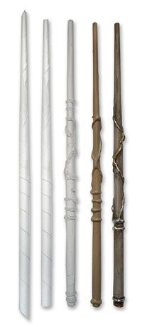 DIY wand: HP wand. papier mache (elmer's, paper, hot glue, pain.)