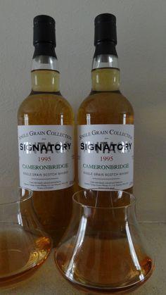 Single Grain - Whisky CAMERONBRIDGE 1995 . 18 ans .43°... 1- Céréales, boisé, fruité, herbacé et agrumes... 2- Fruits murs, vanillé et grain.. 3- Céréales, oléagineux, pointe d'amertume...