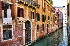 dark water alleys in Venice