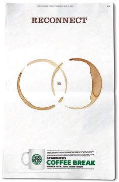 Morning! :) Reconnect with Starbucks Coffee Break. #Advertising