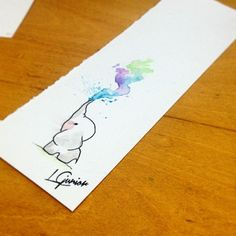 Would love this as a tattoo elephant in black and gray with the little bit of water colors.