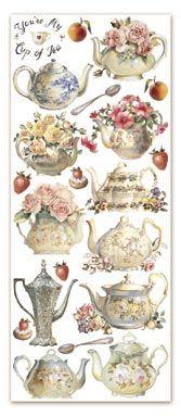 Miniature Printables - Shabby Chic Tea Pots