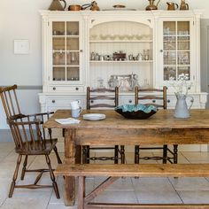 Cream country kitchen with brass accessories