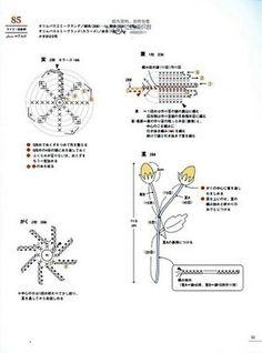 "irish crochet motifs crochet home: CROCHET mini motif"" 2 Crochet Flower Tutorial, Crochet Flower Patterns, Crochet Ideas, Crochet Home, Knit Crochet, Irish Crochet, Crochet Bouquet, Knitting Paterns, Crochet Motifs"