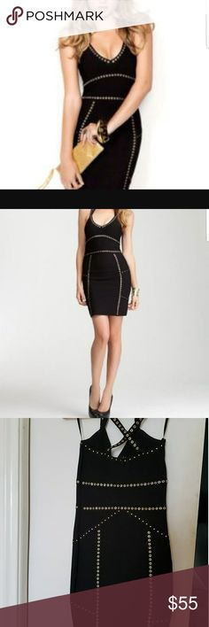 NWT bebe Corsican Nights Bandage dress Sophisticated and sexy bandage dress gives both stretch and compression to its flattering fit.  Don't miss this deal 💋🔥 bebe Dresses