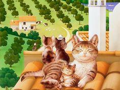 Gatos… Makoto Muramatsu « Cuaderno de retazos