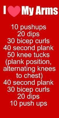 Arm #workout...