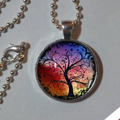 Tree Of Life Necklace. Rainbow. TREE OF LIFE