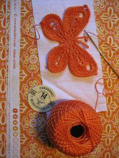 crochet butterfly based on this pattern: http://palmikoita.vuodatus.net/page/ohje3