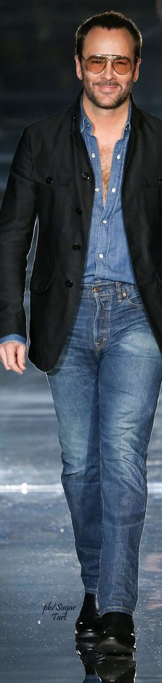 Tom Ford - Chic in denim and Jacket