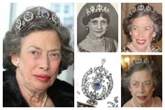 The Princess Thyra Sapphire Tiara. Currently owned by Princess Elisabeth, this sapphire and diamond tiara was originally owned by Princess Thyra, who left the piece to her niece, Princess Caroline-Mathilde. Elisabeth, Caroline-Mathilde's daughter, later inherited the tiara, which features large diamond elements with sapphire center stones.