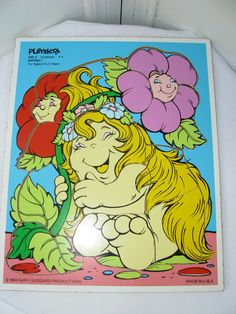 Vintage 1984 Snuggle Bumms Warmly Wooden Puzzle by Playskool. $9.00, via Etsy.