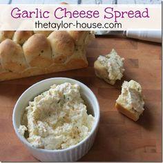 Garlic and Cheese Dip Recipe #recipes thetaylor-house.com