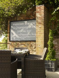 The Waterside Brasserie outside dining at The Arden Hotel