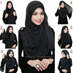 Easy Everyday Hijab Tutorial for Women - Girls SN - Fashion & Style Square Hijab Tutorial, Simple Hijab Tutorial, Hijab Simple, Pashmina Hijab Tutorial, Hijab Style Tutorial, Stylish Hijab, Modern Hijab, Hijab Chic, Hijab Niqab
