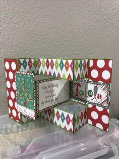 Tri-shutter Christmas card.