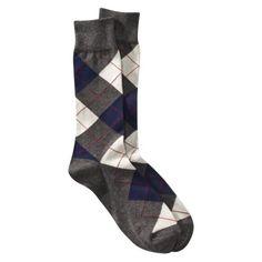 Merona Men's Argyle Socks 1Pk - Gray/Blue $2.99