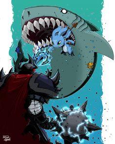 Mordekaiser vs Fizz - League of Legends by FelipeAquino on DeviantArt