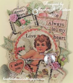 Heather A Hudson: Romantic Vintagey Valentine's Day Tag Tutorial