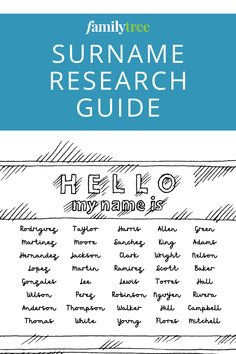 Want to know more about surnames? Follow our guide to find out where hereditary family names came from and how to learn more about your last name. Lee Lewis, Family Names, Genealogy Research, Hello My Name Is, You Lied, Surnames, Need To Know, How To Find Out, Writing