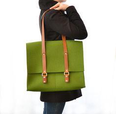 Wool felt satchel