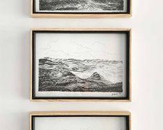 Green Landscape, Diy Wall Art, Tree Art, Printable Art, Digital Prints, Art Prints, Drawings, Frame, Watercolour